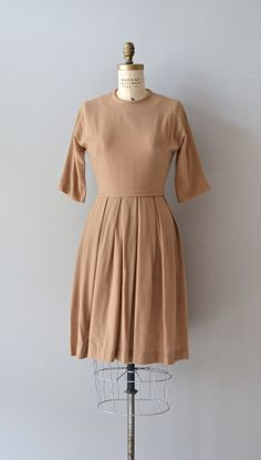 Buttered Scotch dress vintage 1950s dress wool 50s by DearGolden