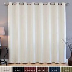 Blackout Patio Door Curtain (Black)
