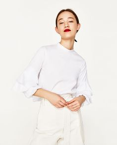 ZARA - WOMAN - BLOUSE WITH FULL SLEEVES