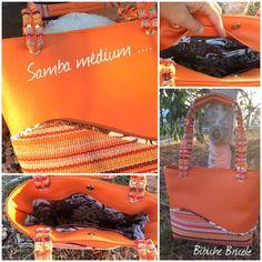 Samba simili orange et tapis de sol coton cousu par Béatrice - Patron Sacôtin