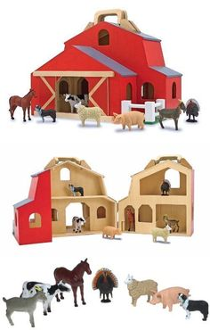Wooden And Handcrafted Toys 1197 Melissa Doug Fold Go Barn BUY
