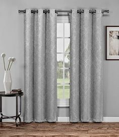 """Warm Home Designs 1 Pair (2 Panels) of Gray Insulated Thermal Blackout Curtains with Grommet Top. Each Window Panel Is 38\"""" X 84\"""" in Size. 2 Grey 84 Panels >>> To view further for this item, visit the image link."""