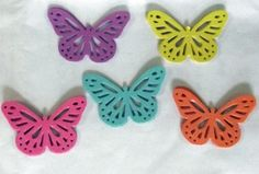 2 Inches Die CutButterfly/Yellow blue pink purple orange/Scrapbooking supply/monarch/Tags Supply,Cup Cake Topper Supply,Craft Supply by PaperFabricRock on Etsy