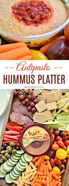 Sometimes simple is best, especially when it turns out looking like you put a lot of time and effort into it. A simple antipasto hummus platter is perfect for a light meal or entertaining. @sabradips #walmartfarmersmarket AD
