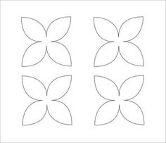 A Sheet Of Printable Flower Petal Templates  Petals