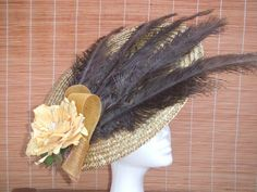 Tocado plato tonos ocre Fascinators, Dishes