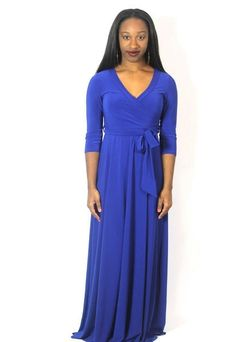 Royal Blue Maxi Wrap Dress
