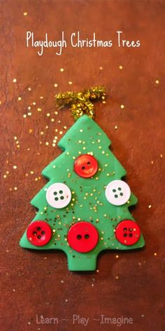 Making playdough Christmas trees to build fine motor skills through festive play. Add peppermint extract too! Christmas Art For Kids, Christmas Activities For Kids, Preschool Christmas, Noel Christmas, Christmas Themes, Winter Christmas, Christmas Ornaments, Winter Holidays, Christmas 2019