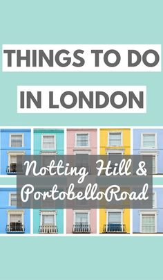 Things to do in London: A globetrotters' guide to getting blissfully lost in the backstreets of Notting Hill and Portobello Road Market. Notting Hill and the Portobello Road Market have to be two of my favourite places to visit when I'm in London. If you're planning a trip and looking for some London travel tips, here's a guide to getting lost in the backstreets!