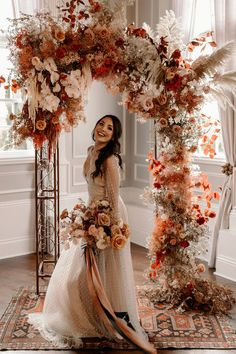 How to design a lush fall wedding at an indoor venue Wedding Ceremony Ideas, Gazebo Wedding Decorations, Wedding Centerpieces, Wedding Beauty, Boho Wedding, Dream Wedding, Wedding Day, Floral Wedding, Perfect Wedding