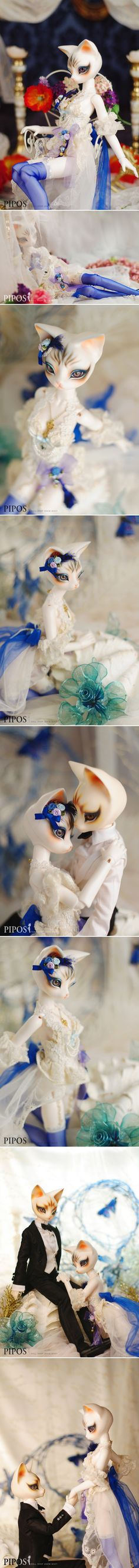 Pipos and Lee enchanted cat people dolls