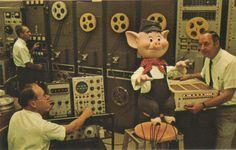 Mickey Mouse Revue, Practical Pig prep. Walt Disney World, 1970.