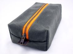Dopp Kit Olive Waxed Canvas by Wovenn on Etsy, $65.00