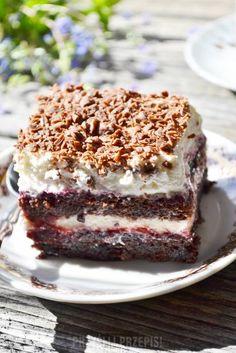 Ciasto porzeczkowe z masą serową Dessert Drinks, Dessert Bars, Baking Recipes, Cake Recipes, Tasty, Yummy Food, Polish Recipes, Polish Food, Food Cakes