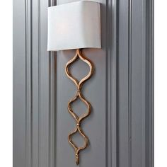 Sinuous Metal Sconce, Gold Leaf, High Fashion Home
