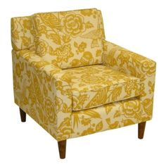 Amazon.com: Skyline Furniture Olive Court Arm Chair in Canary Maize Fabric: Furniture & Decor