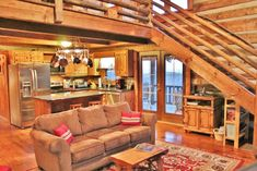Want to experience the goodness of living in a country-style house and away from the city, and if you love hands-on, log cabin kits is the solution. Log Cabin Kits, Log Cabin Homes, Log Cabins, Log Cabin Kitchens, Log Cabin Floor Plans, Log Cabin Living, How To Build A Log Cabin, Cabin In The Woods, Log Home Decorating
