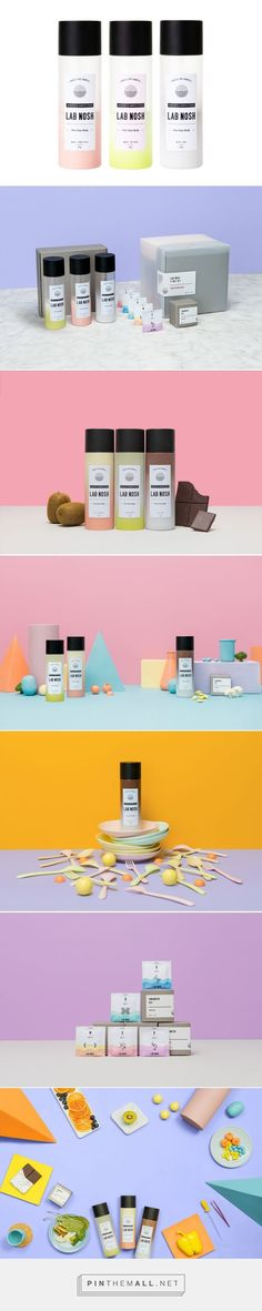 Branding and packaging for LAB NOSH on Behance by Min Li Seoul, Korea curated by Packaging Diva PD. Simple healthy food packaging PD
