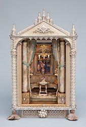 Russian Salon (jt-Russian Salon - beautiful room box by Bluette Meloney) Vitrine Miniature, Miniature Rooms, Miniature Crafts, Miniature Houses, Miniature Furniture, Diy Doll Miniatures, Toy Theatre, B 13, Victorian Dolls