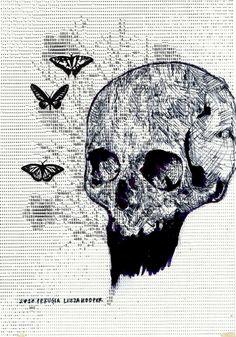 Skulls - Têtes de morts - Leeza Hooper #skull #jpdubs Damien Hirst, Basquiat, Skeletons, Skulls, Art, Crystal Skull, Skull, Craft Art, Kunst