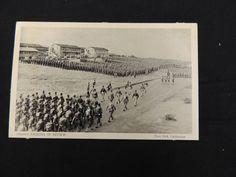 VTG Military Fort Ord California Infantry Passing in Review Postcard Marching