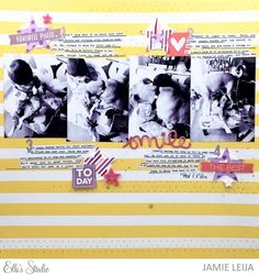 Battle for the Chair scrapbook layout by Jamie Leija for Elle's Studio