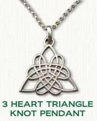 Celtic 3 Heart Triangle Knot