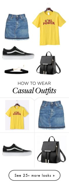 """""""Day out casual look"""" by milly-11 on Polyvore featuring rag & bone/JEAN and Vans"""