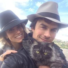 Pin for Later: Adorable Pictures of Celebrities and Their Favorite Furry Friends Ian Somerhalder and Nikki Reed