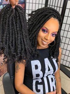 Afro Twist Braid Hairstyles, Crochet Twist Hairstyles, Black Girl Braided Hairstyles, African Braids Hairstyles, Twist Braids, Crochet Hair Styles, Kinky Hairstyles, Hair Twists, Dreadlock Hairstyles