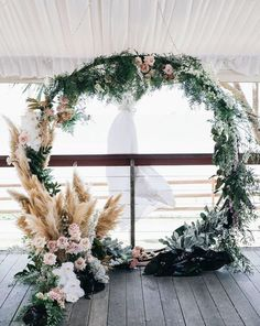 Are you thinking about having your wedding by the beach? Are you wondering the best beach wedding flowers to celebrate your union? Here are some of the best ideas for beach wedding flowers you should consider. Wedding Ceremony Ideas, Wedding Altars, Ceremony Backdrop, Boho Wedding, Floral Wedding, Trendy Wedding, Wedding Arches, Backdrop Wedding, Wedding Props