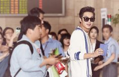 Lee Min Ho departing for China from Gimpo Airport.