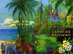 LA GUAIRA AND CARACAS RAILWAY FERROCARRIL DE LA GUAIRA A CARACAS VENEZUELA by Allen Morrison
