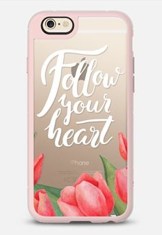 Follow your heart - New Standard iPhone 6 case in Pink Gray and Clear by Epine | @casetify