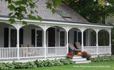 Country Front Porch Ideas | country porch adorned with exterior house trim