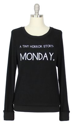 Wildfox Couture Horror Story Baggy Beach Jumper