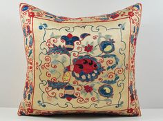 Vintage Suzani pillow cover  throw pillow  by islimi