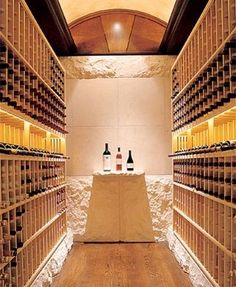 Contemporary Wine Cellar Floor Tile Design, Pictures, Remodel, Decor and Ideas - page 10 Caves, Cellar Inspiration, Wine Furniture, Home Wine Cellars, Townhouse Interior, Cellar Design, Stucco Walls, Wine And Beer, Wine Storage