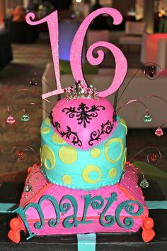 sweet 16 cake -- like the topper