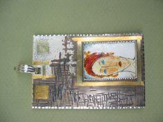 Colgante: plata, oro. Técnicas: Esmalte 840ºC.,Kum-boo. Autor: Alfredo Escalada.