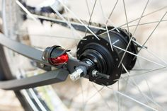 Rear light detail on Firebikes Fluid custom bike by Gatz Cascais. Custom Bikes, Detail