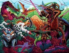 DinoWarz, an art print by Brock Hofer - INPRNT