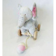 Λούτρινο Ελεφαντάκι με ροδάκια και σχοινάκι Kai, Balloons, Teddy Bear, Toys, Animals, Activity Toys, Globes, Animales, Animaux