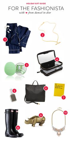 Gift Guide: For the Fashionista  Read more - http://www.stylemepretty.com/living/2013/12/19/gift-guide-for-the-fashionista/