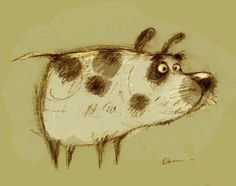Image result for dainius sukys Art And Illustration, Animal Drawings, Cute Drawings, Cartoon Sketches, Sketch Painting, Sketchbook Inspiration, Texture Art, Whimsical Art, Dog Art