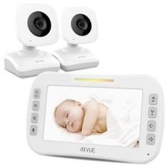 Video Baby Monitor with Two Cameras and Screen by Axvue, Model Multifunctions - Compare and Shop The Best Stuff - wilhelmine Fall Baby Announcement, Technology Support, Best Resolution, Baby Monitor, Digital Technology, Night Vision, Have Time, New Baby Products, Cameras