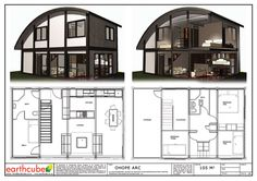 Earthcube » Plan Gallery Building A Container Home, Container Buildings, Container House Plans, Container House Design, Container Houses, Shipping Container Home Designs, Shipping Containers, Casas Containers, Portable House