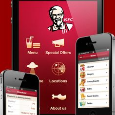 KFC iphone app design by Sergey Voronov. - Best Mobile Designers In The World | Scoutzie