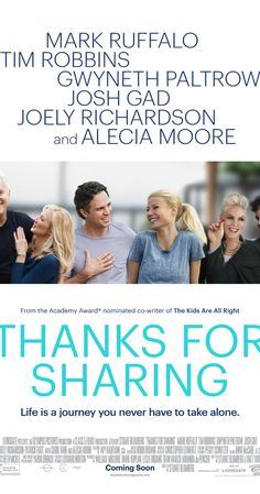 Thanks for Sharing (2012) Pinks (aka Alecia Moore) first major acting role in a comedic drama. Must see - she is such a multi-talent!