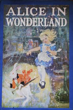 "Vintage ""Alice in Wonderland,"" Undated, but probably mid-20th Century"